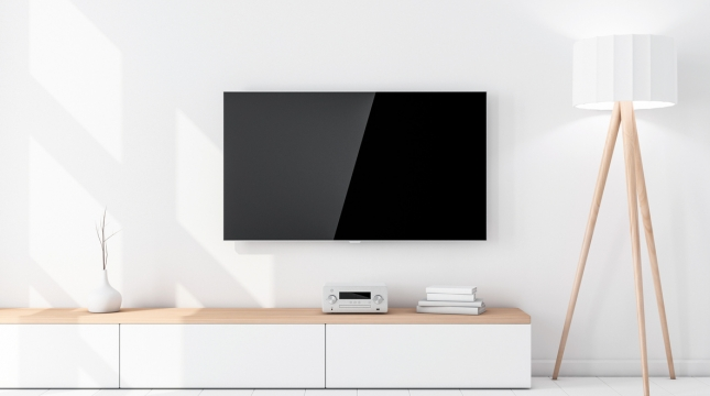 tv na parede de drywall
