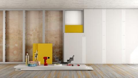 Paredes de gesso: conheça as vantagens do drywall